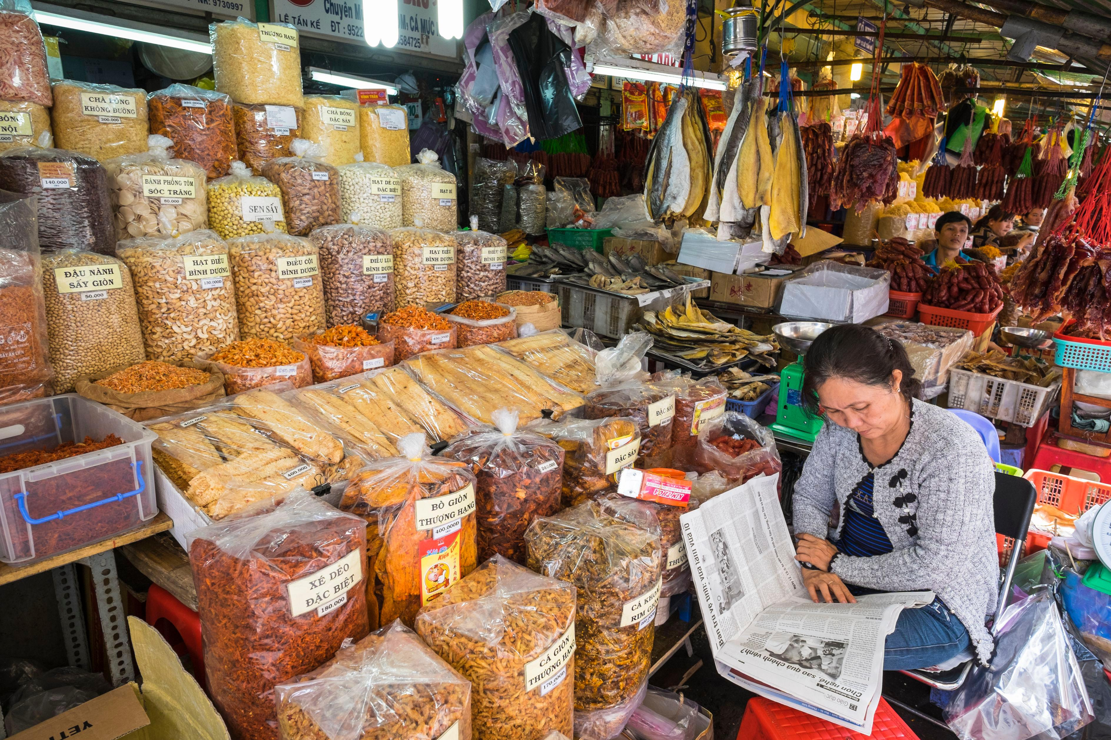 Vietnam, Southeast region, Ho Chi Minh City (Saigon), Cholon district, Binh Tay market