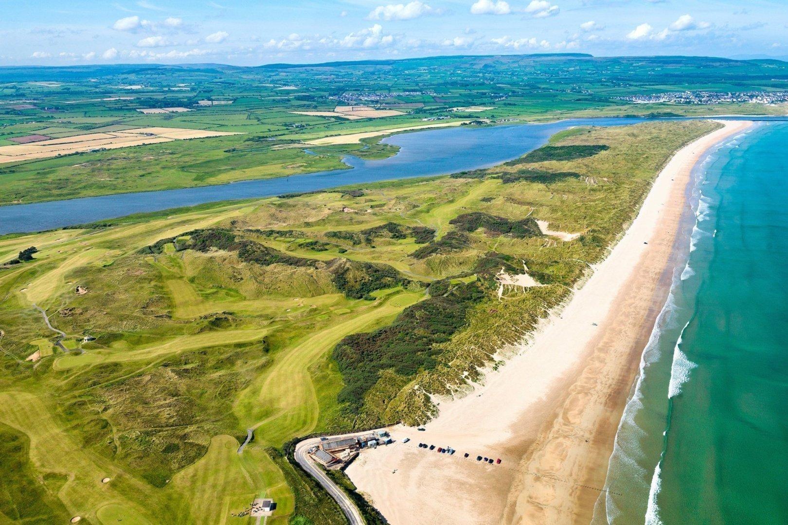 Aerial View of Portstewart Golf Course, Co. Antrim, Northern Ireland