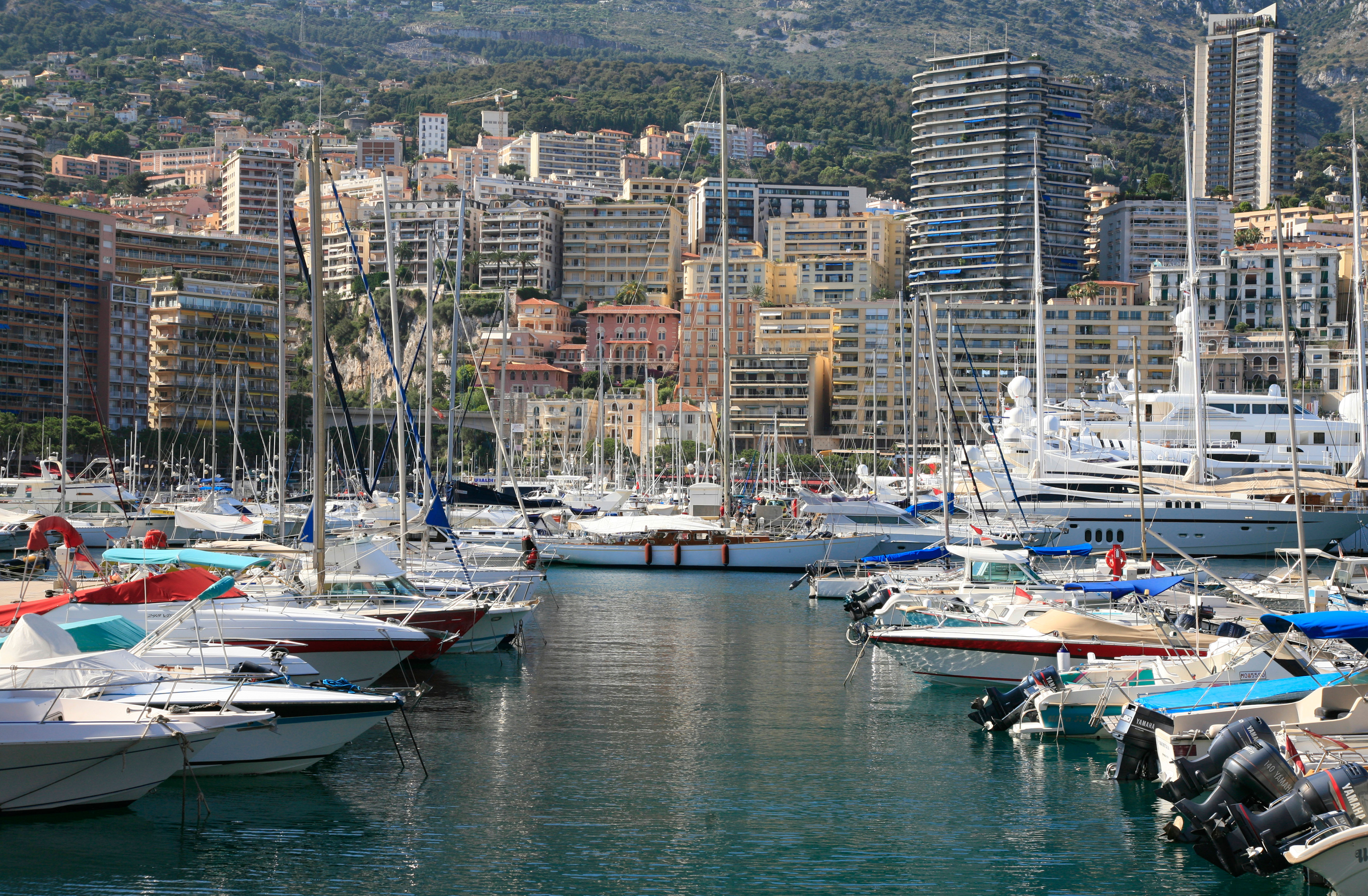 Yachts in Monte Carlo harbour