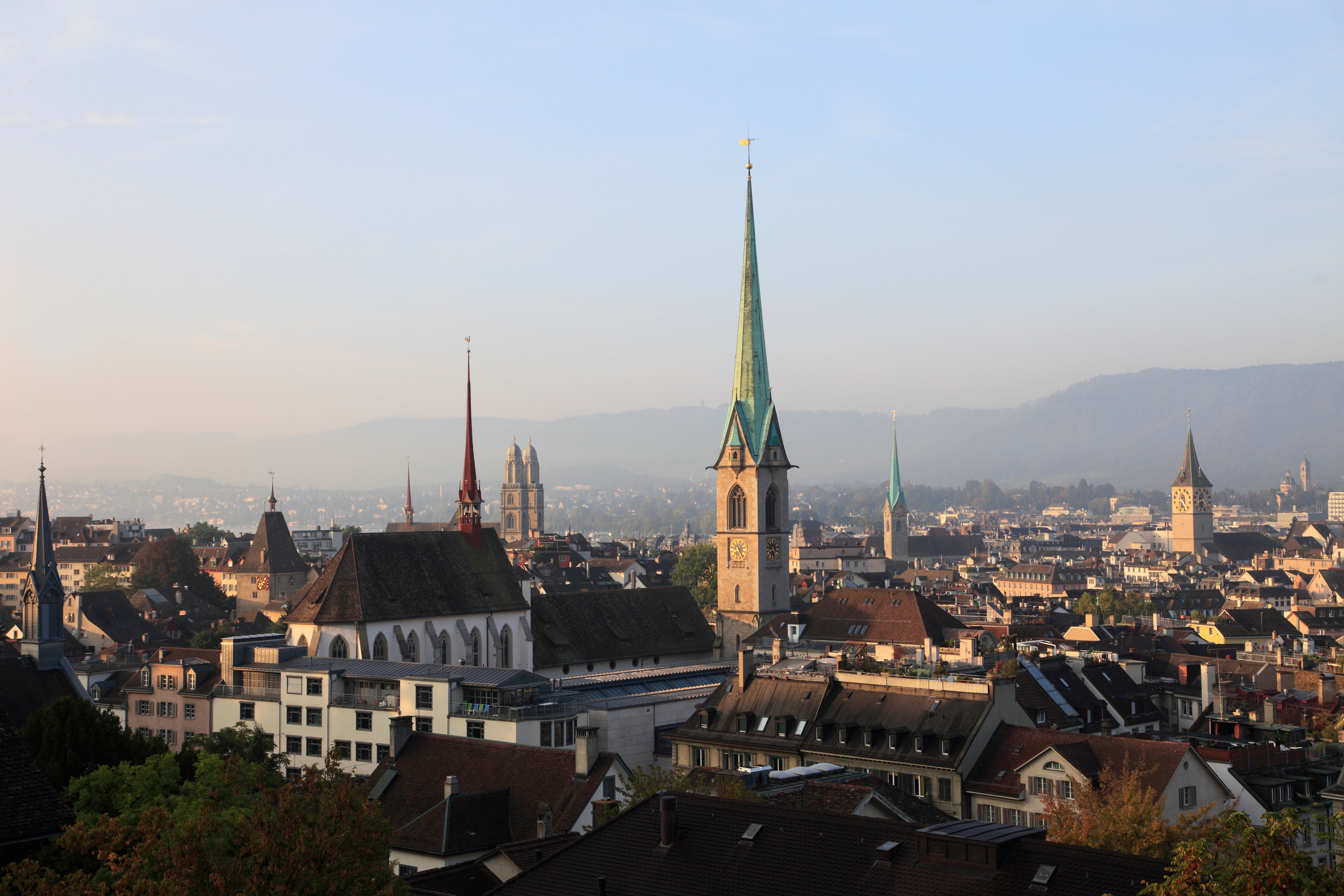 Switzerland, Zurich, skyline, general panoramic view