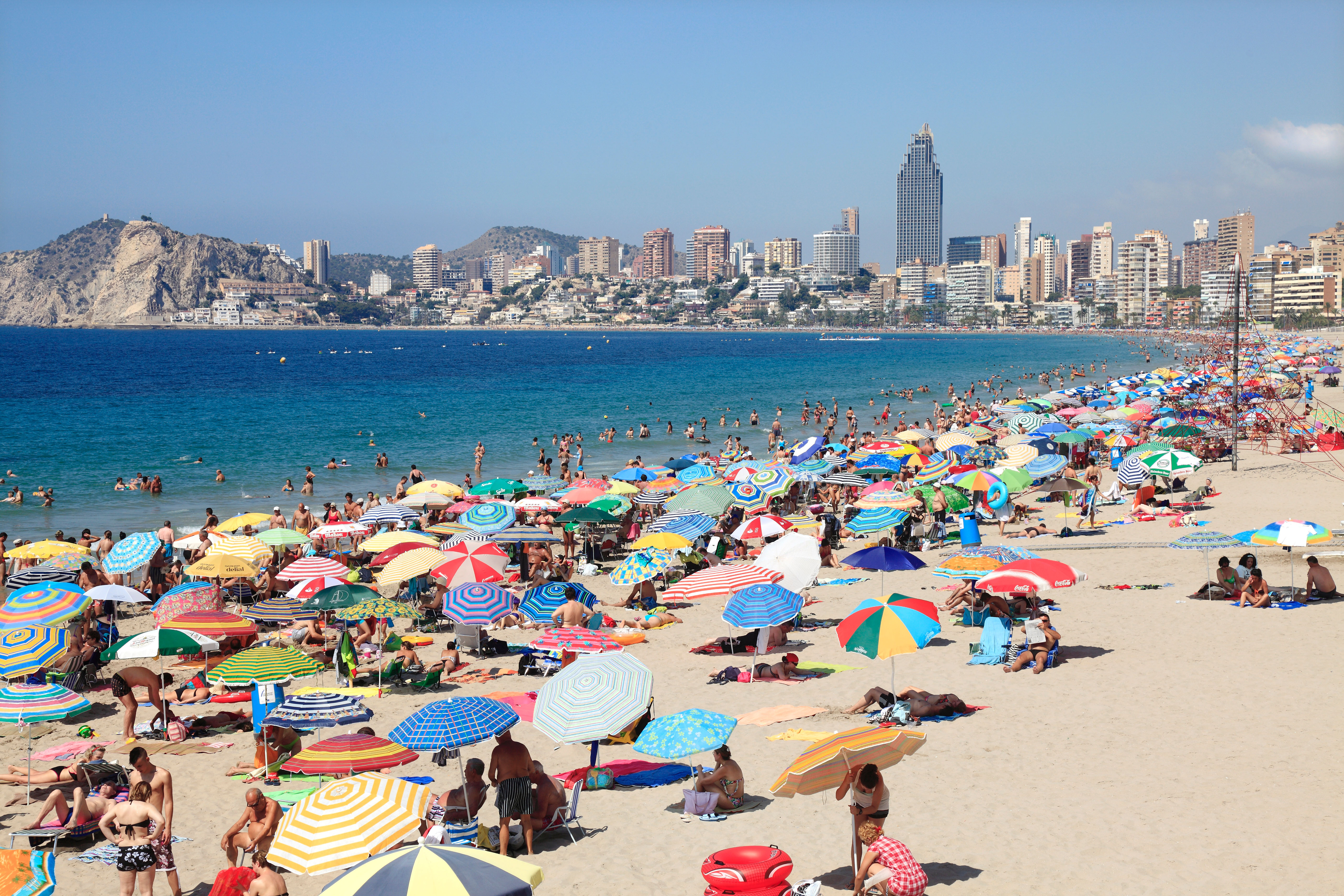 Popular Holiday Resort of Benidorm in Spain