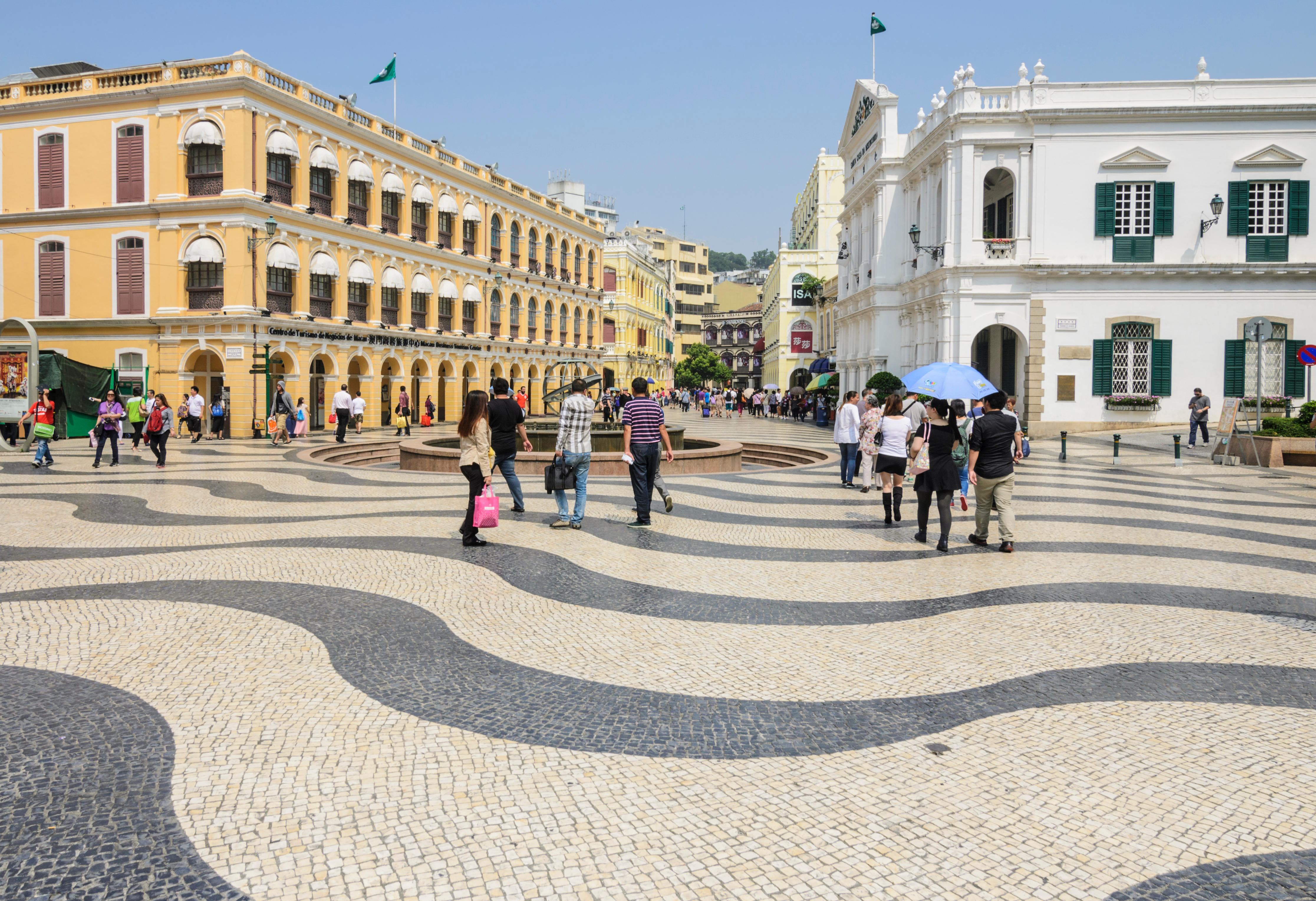 Mosaic cobbles of Senado Square, Macau, China. Image shot 10/2014. Exact date unknown.