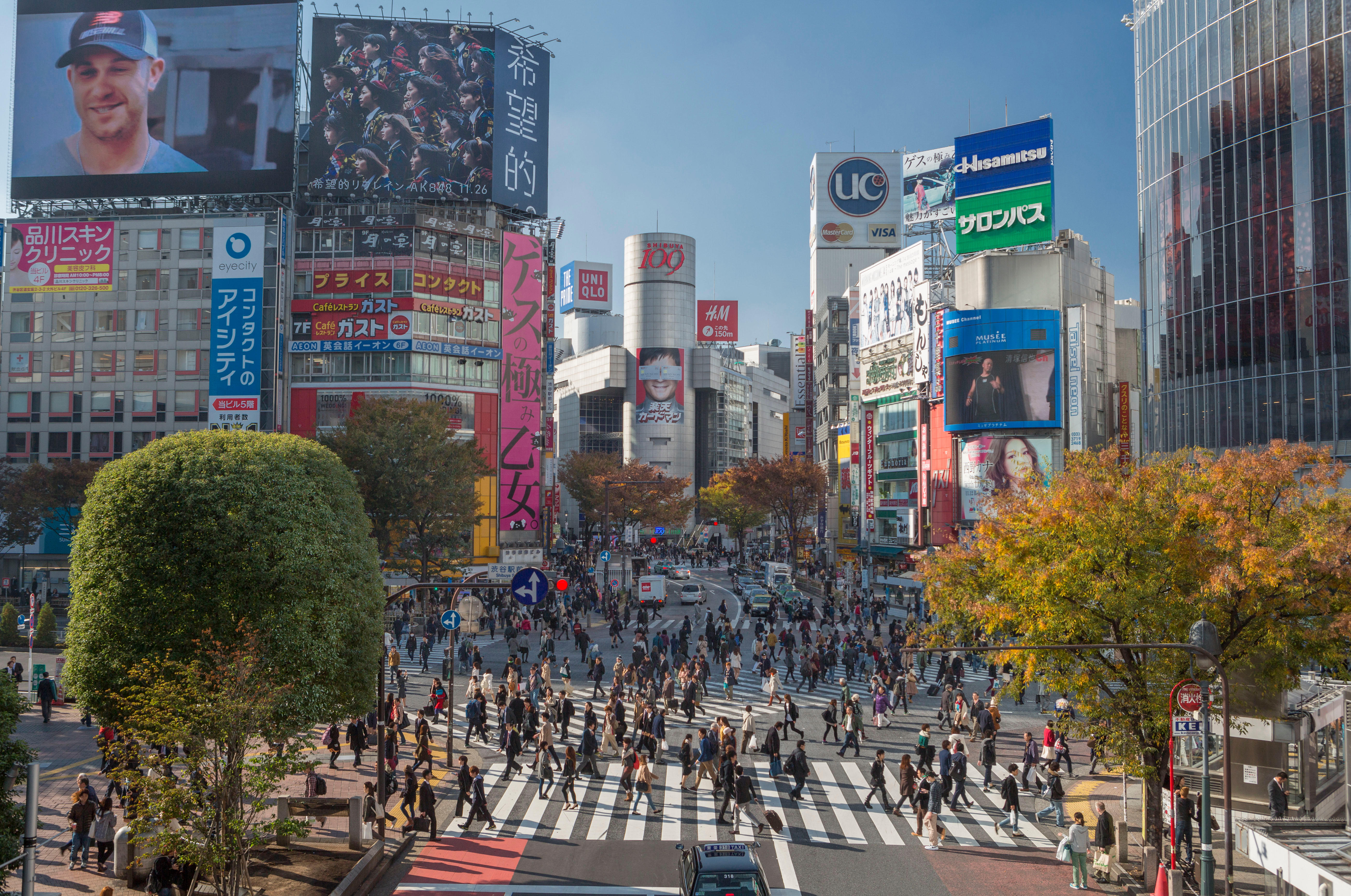 Japan, Tokyo City, Shibuya District, Hachiko Crossing