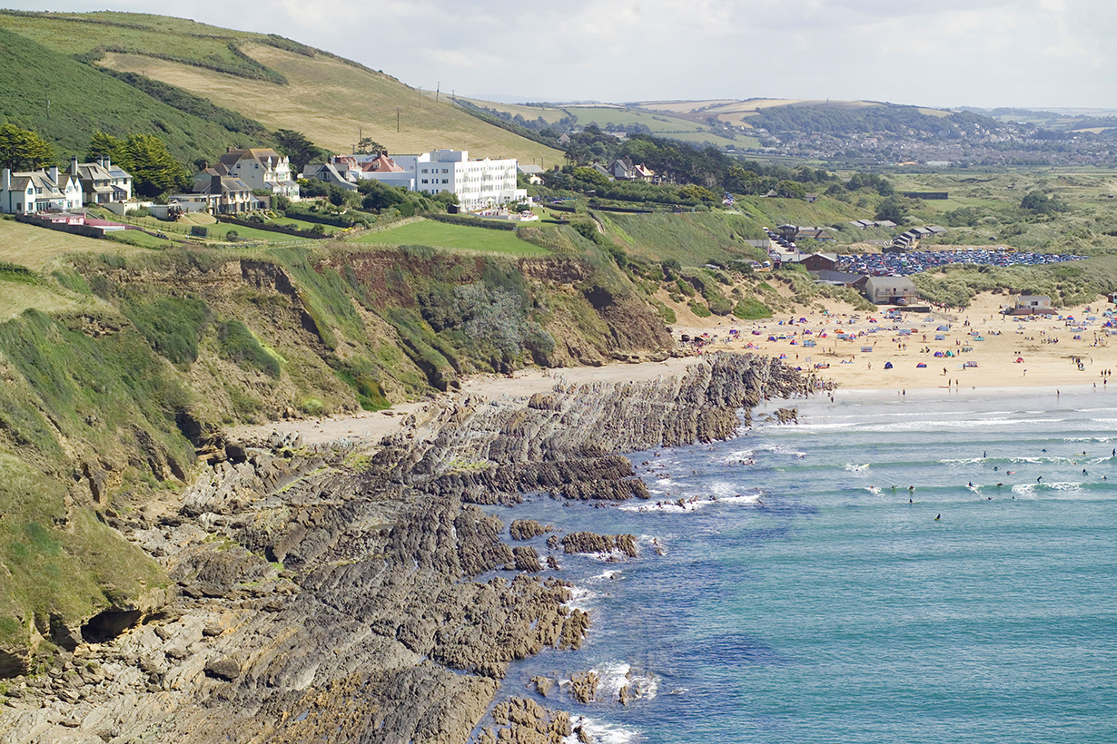 Saunton Sands is a popular spot for surfers to catch a wave
