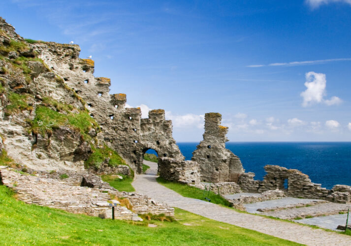 Tintagel Castle in Cornwall, England, supposed location of King Arthur's Camelot. Image shot 05/2010. Exact date unknown.