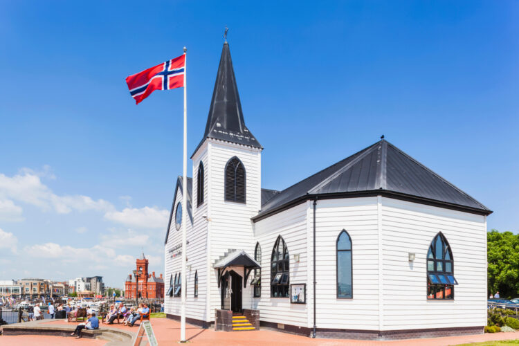 Wales, Cardiff, Cardiff Bay, Norwegian Church Arts Centre