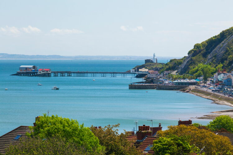 Mumbles Lighthouse, Mumbles Pier, Mumbles, Gower, Swansea, Wales, United Kingdom, Europe