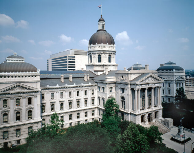Indiana State Capitol building at Indianapolis in Indiana